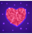 Abstract Triangle Heart Valentine Card vector image
