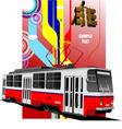 al 0604 tram 02 vector image vector image