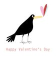 graphic love with a rook vector image vector image