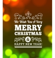 Vintage Merry Christmas Background vector image