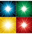 set of color backgrounds with flash vector image