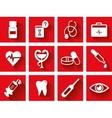 Flat medical icon set vector image
