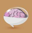 Brain Balloon Text Symbol Logo vector image
