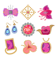 Coquette gemstones brooch vector image
