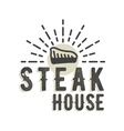 Creative logo design with steak vector image