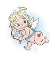 Cupidon boy with a bow vector image