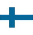 finnish flag vector image