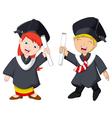 funny graduation celebration vector image