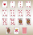 Hearts Playing Cards Set vector image