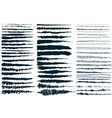 ink brush strokes set of paint spots hand made vector image