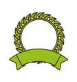 organic label emblem template image vector image