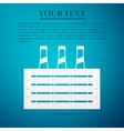 Pack of Beer flat icon on blue background vector image