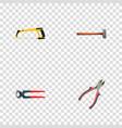 realistic handle hit tongs forceps vector image