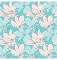 Seamless pattern with magnolia vector image
