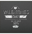 Template valentines day up to sale 50 card vector image