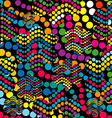 Colorful background made of dotes vector image