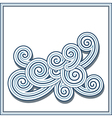 Decorative swirls vector image vector image