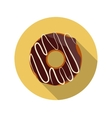 Flat Design Concept Chocolate Doughnut With vector image