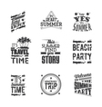 Set of lettering - Summer Holidays vector image vector image