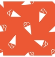 Orange ice cream pattern vector image