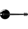 banjo silhouette vector image