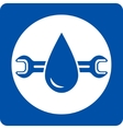 blue plumbing service icon vector image