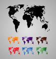 Set of World Map Continents vector image