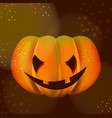 bright halloween pumpkin over dark vector image