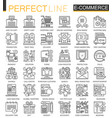 e-commerce stroke outline concept symbols perfect vector image