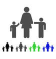 mother children icon vector image