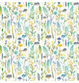 seamless pattern with color plants vector image