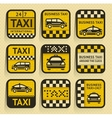 Taxi insignia old style vector image