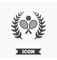 Tennis rackets with ball icon Sport symbol vector image