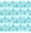 Blue water curly waves seamless pattern vector image