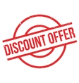 Discount Offer rubber stamp vector image