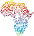 abstract Africa in a cheetah camouflage vector image