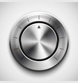 Technology Volume Button with Metal Texture vector image vector image