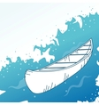 Background with boat vector image