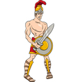 greek god ares cartoon vector image vector image