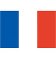 french flag vector image vector image
