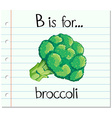 Flashcard letter B is for broccoli vector image
