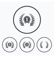 Laurel wreath award icons Prize for winner vector image
