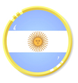 button with flag Argentina vector image vector image
