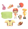 Boy American Football Player Kids Future Dream vector image