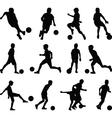 kid play soccer vector image