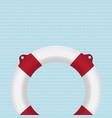 lifebuoy photo-realistic on striped backgrou vector image