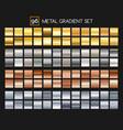 Metal gradient collection vector image