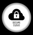 Secure Cloud Technology vector image