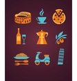 Set of Italy icons vector image