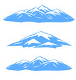 the set of blue ridges vector image